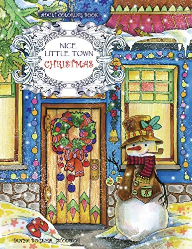 Adult Coloring Book: Nice Little Town Christmas