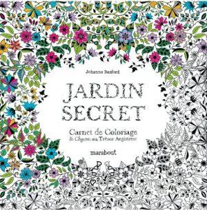 Jardin secret, carnet de coloriage et chasse au trésor anti stress