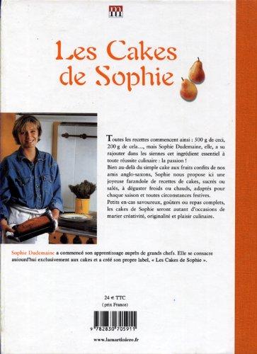 Cakes de Sophie (4e de couverture)